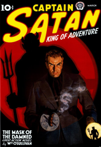 Cover of an issue of Captain Satan